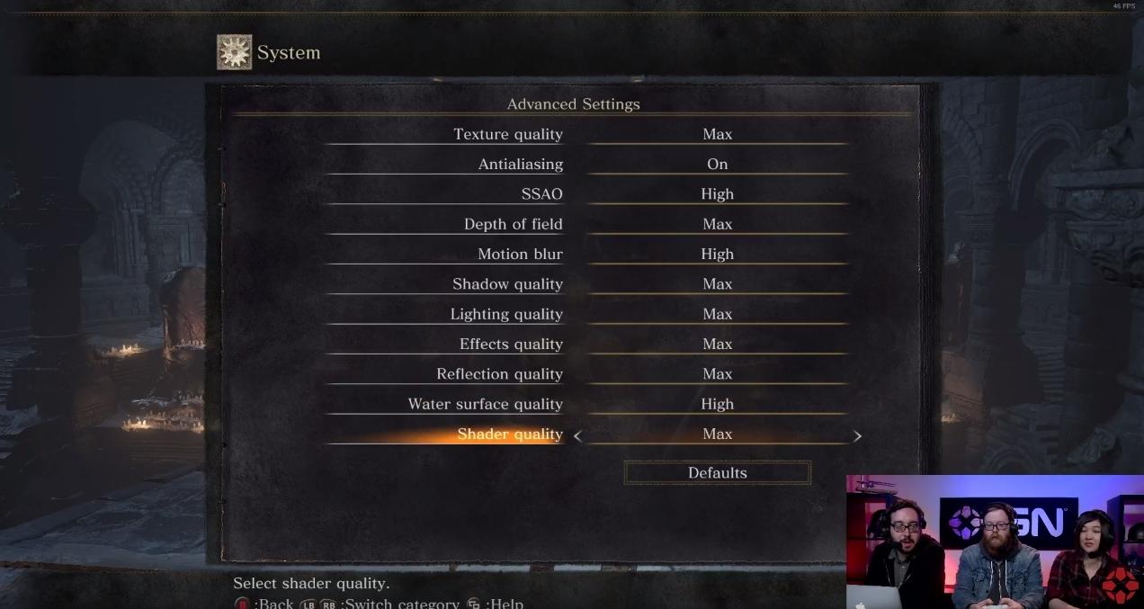 Dark Souls III ustawienia graficzne