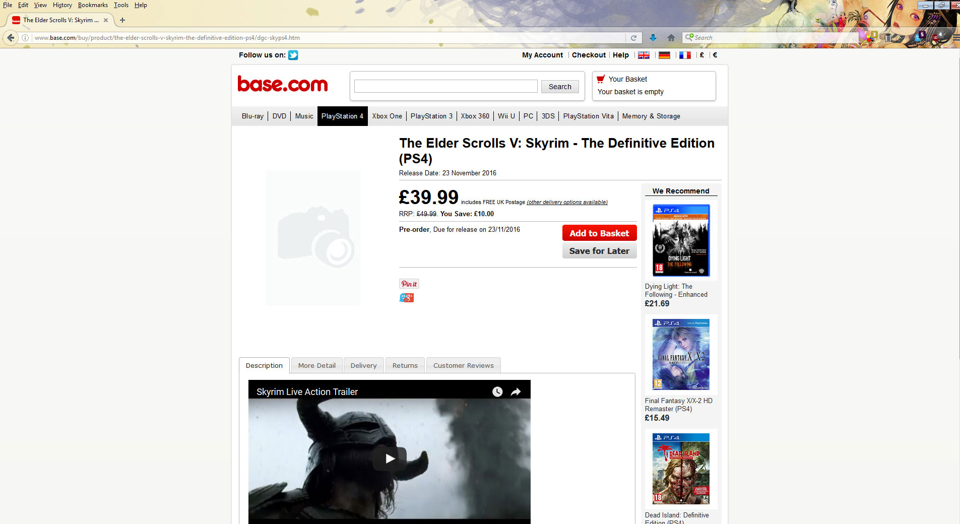 The Elder Scrolls V Skyrim Definitive Edition