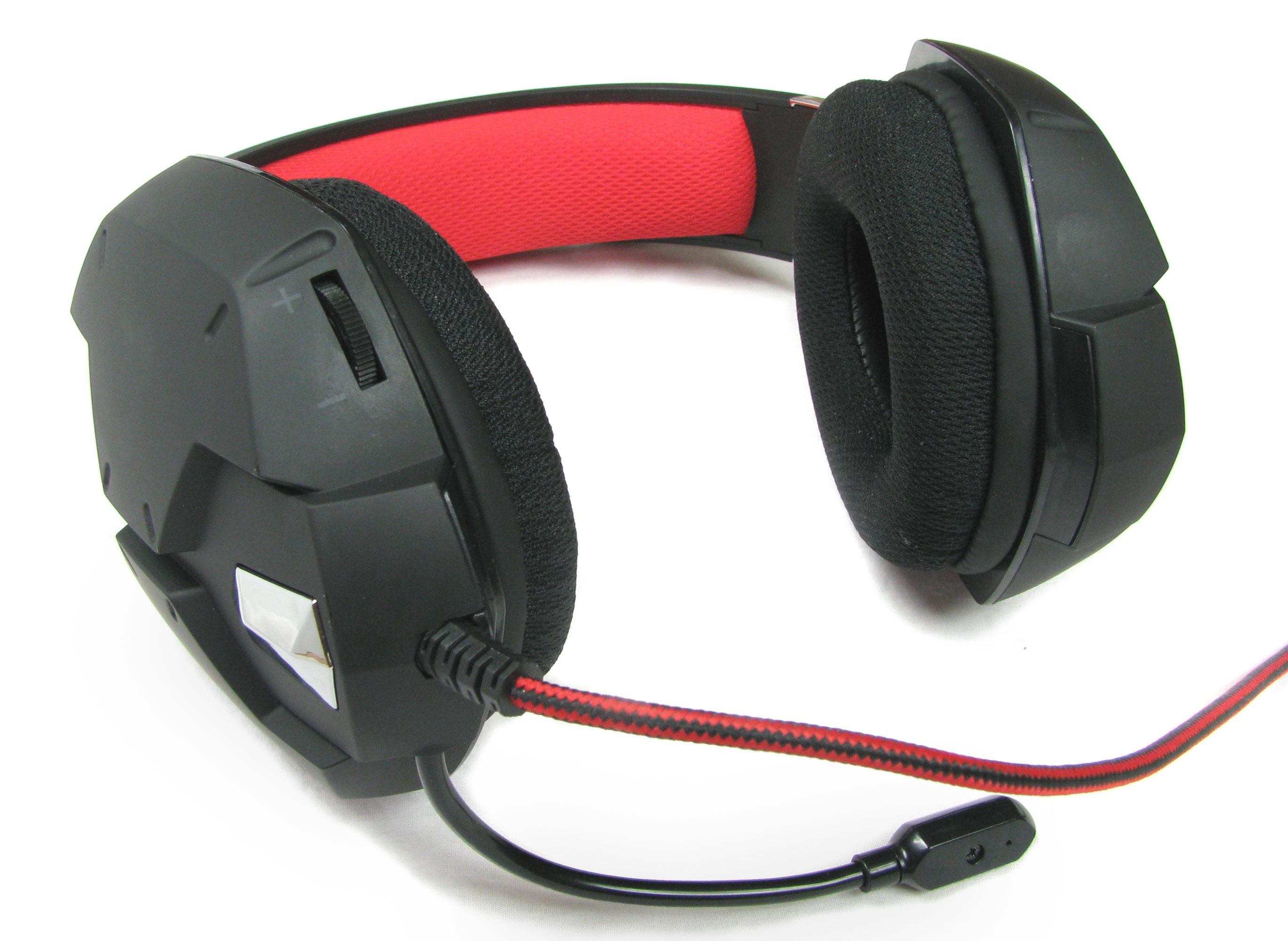 Trust GXT 322 Dynamic Headset - regulacja głośności i włączenie/wyłączenie mikrofonu.