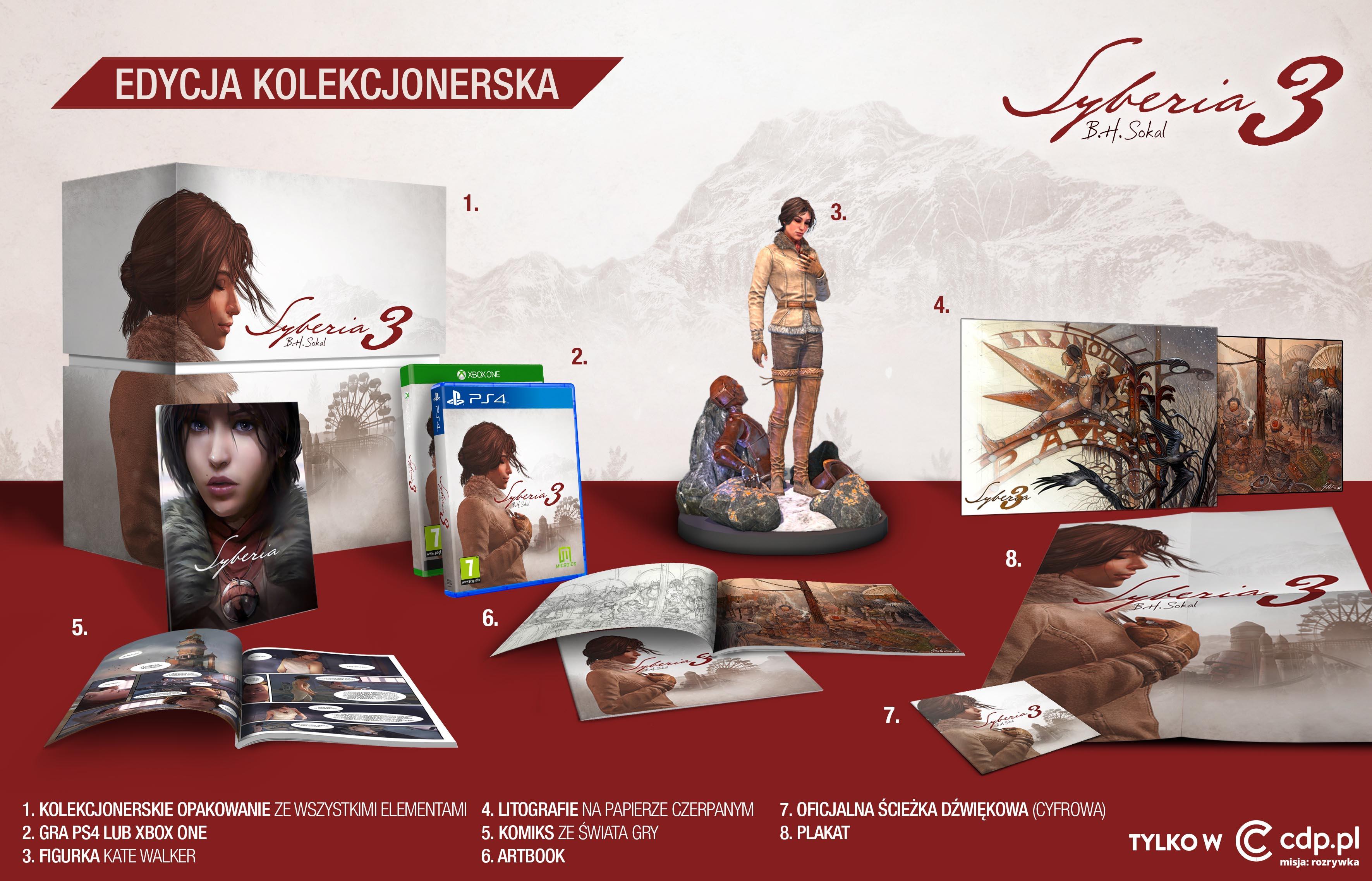 Syberia 3 - edycja kolekcjonerska na PS4/Xbox One