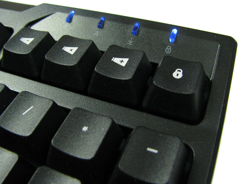 Zalman ZM-K650WP to tylko cztery klawisze funkcyjne.