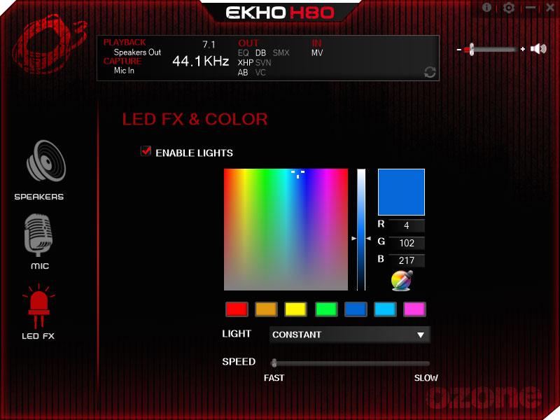 Słuchawki Ekho H80 RGB zaświecą, jak sobie zażyczysz.