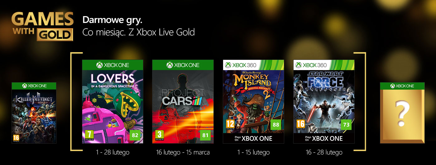 Games with Gold na luty 2017