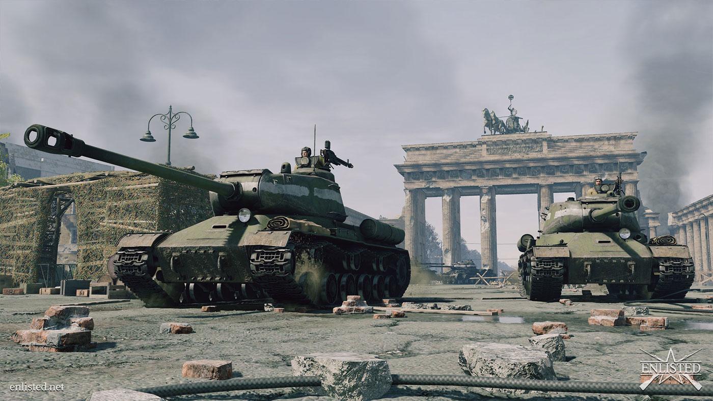 Enlisted czołgi brama Berlin