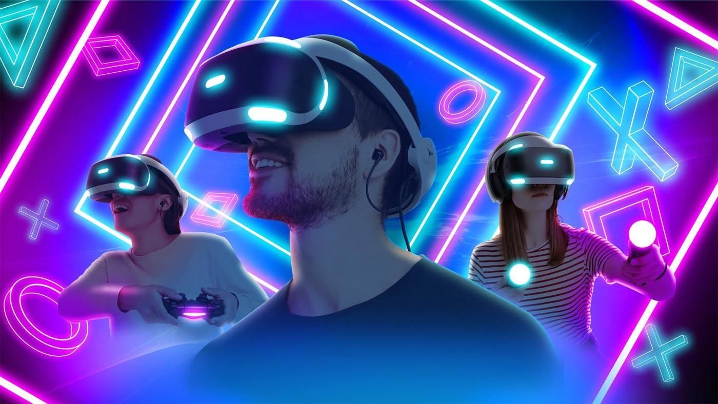 PS VR 1 2 - ludzie w goglach