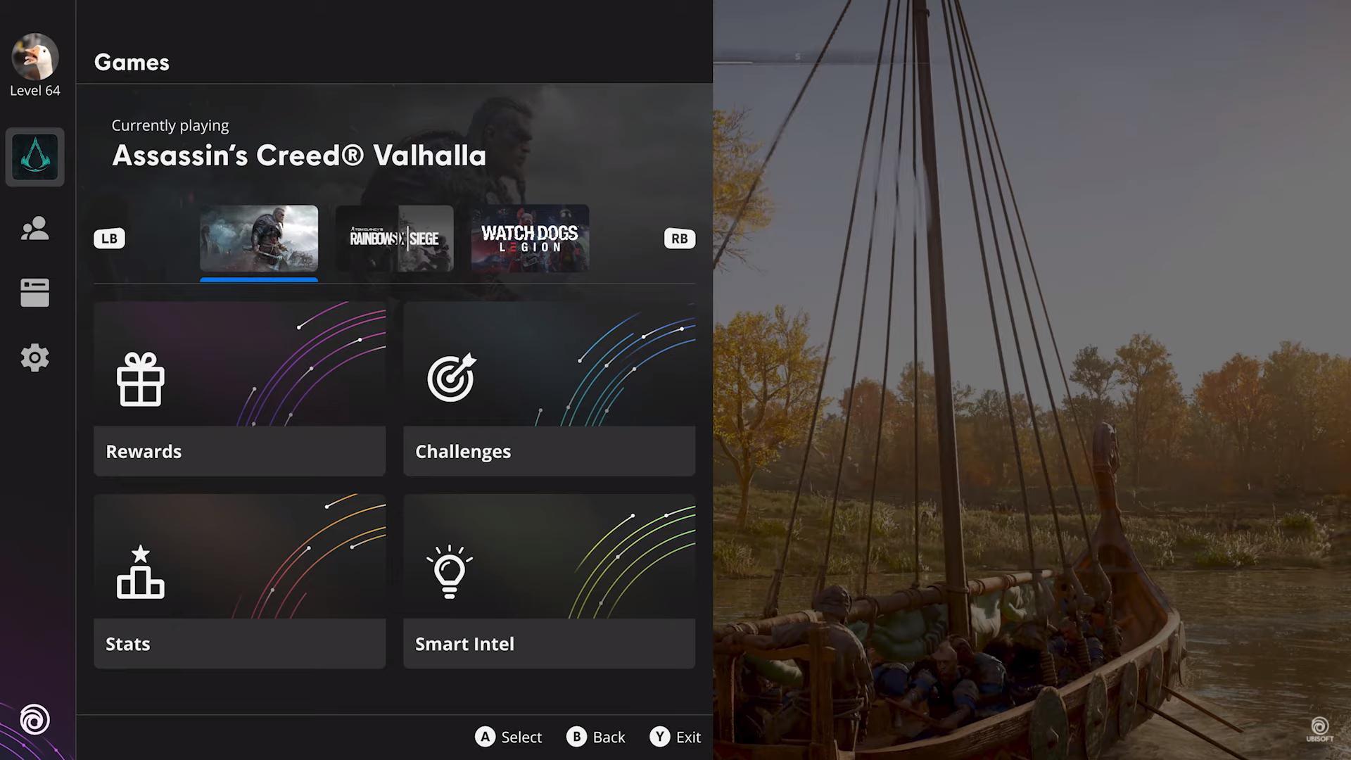 Ubisoft Connect UI