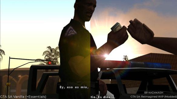 GTA San Andreas mod porównanie
