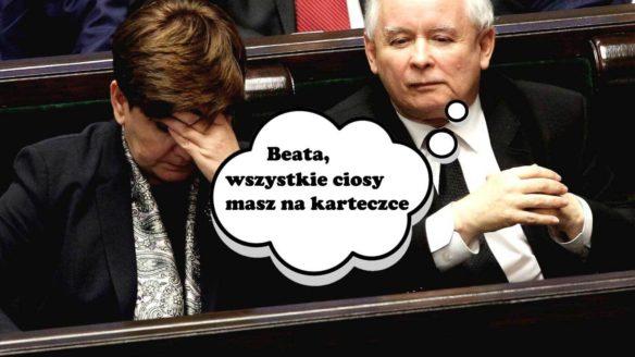 Tekken, Beata Szydło i Jarosław Kaczyński mem
