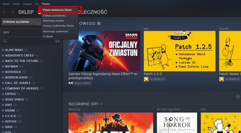 jak zwrócić grę Steam