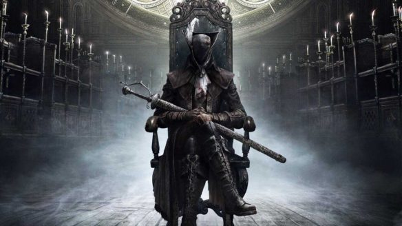 Bloodborne - postać na tronie