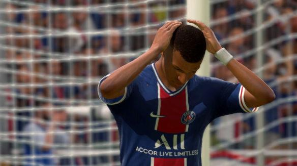 EA FIFA 21 - smutny piłkarz