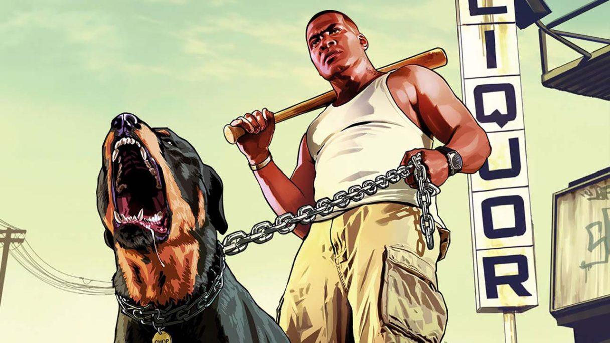 GTA V - Franklin z psem