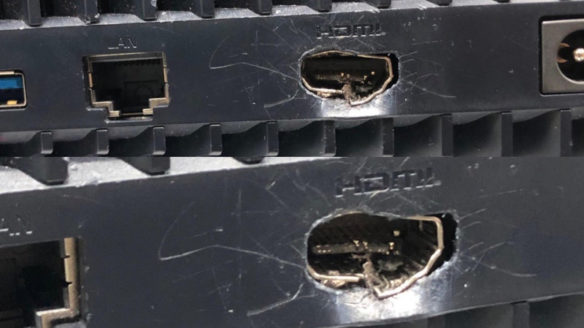 PS5 zniszczone