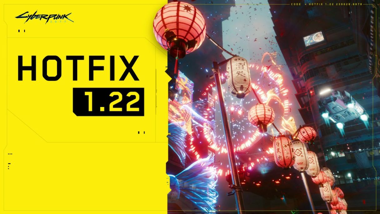 Cyberpunk 2077 hotfix 1.22 - grafika