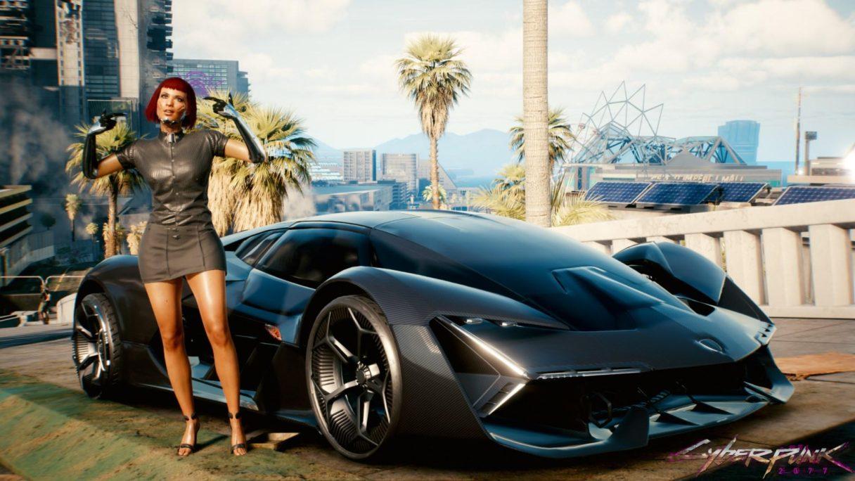 Cyberpunk 2077 - zrzut ekranu Lamborghini