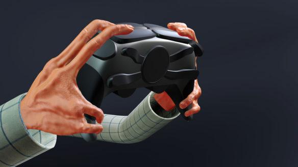 Gracze przyszłości - dłonie na kontrolerze