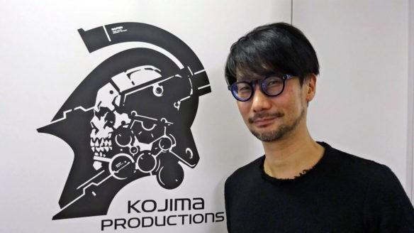 Hideo Kojima z logiem studia