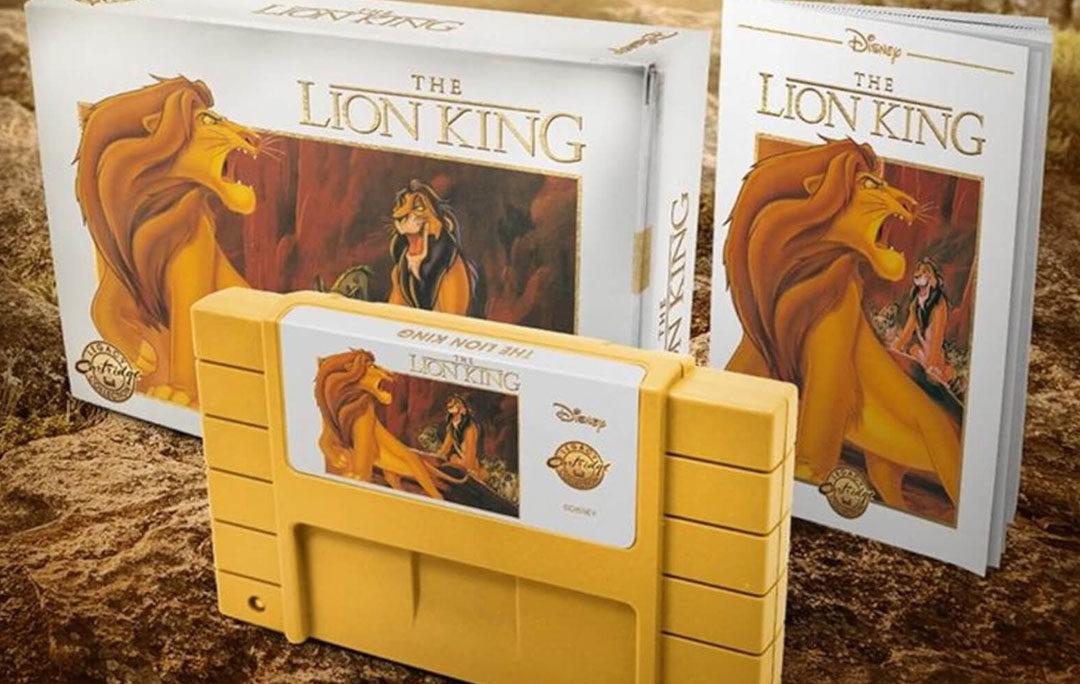 Lion King specjalny żółty kartridż na SNES dla kolekcjonerów