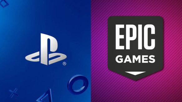 Sony PlayStation i Epic Games - logo