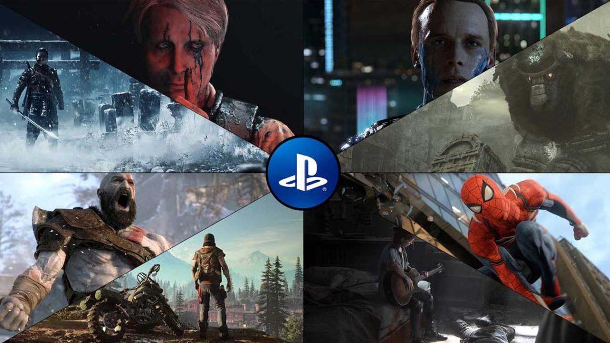 PlayStation - kolaż grafik z gier