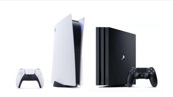 PS4 z P5 i kontrolerami