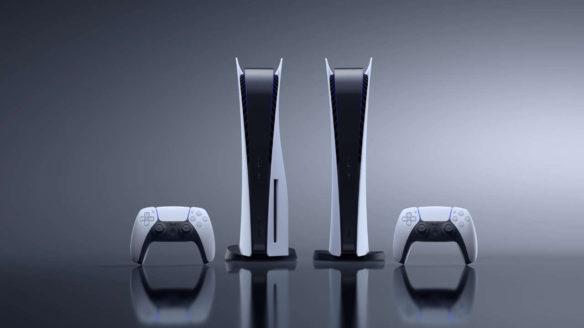 Konsola PS5 z dwoma padami dualsense i wariantem digital