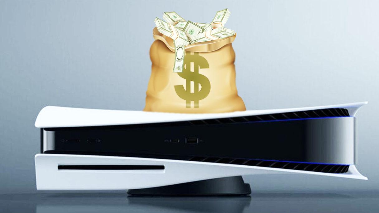 PlayStation 5 z workiem z pieniędzmi