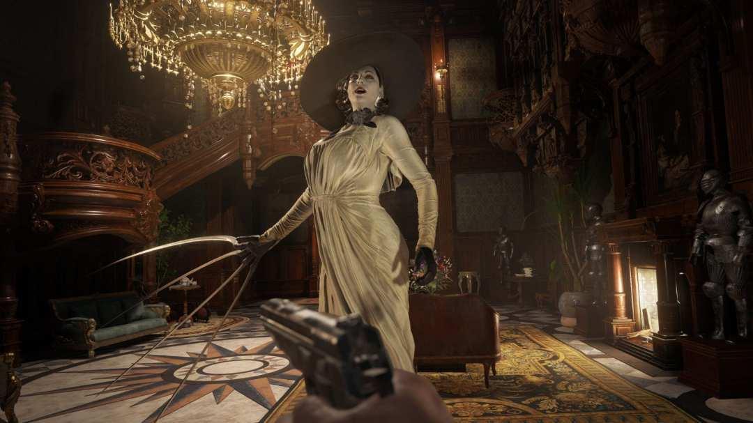 Lady Dumitrescu z Resident Evil Village ze szponami w ręce