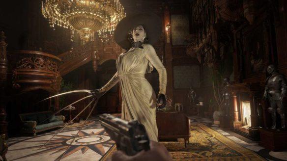 Lady Dimitrescu ze szponami w ręce z Resident Evil Village