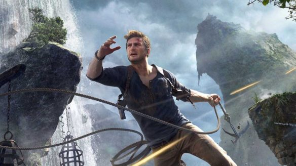 Uncharted 4 - Nathan Drake skacze