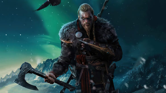 Assassin's Crred Valhalla - Eivor z toporem