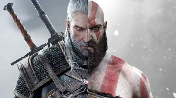 Wiedźmin 3 i God of War - Geralt i Kratos