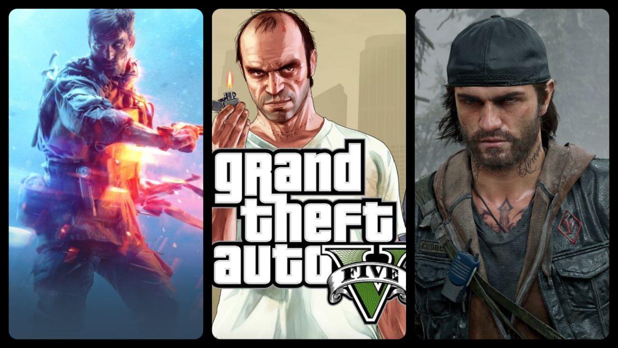 GTA V, Battlefield i Days Gone
