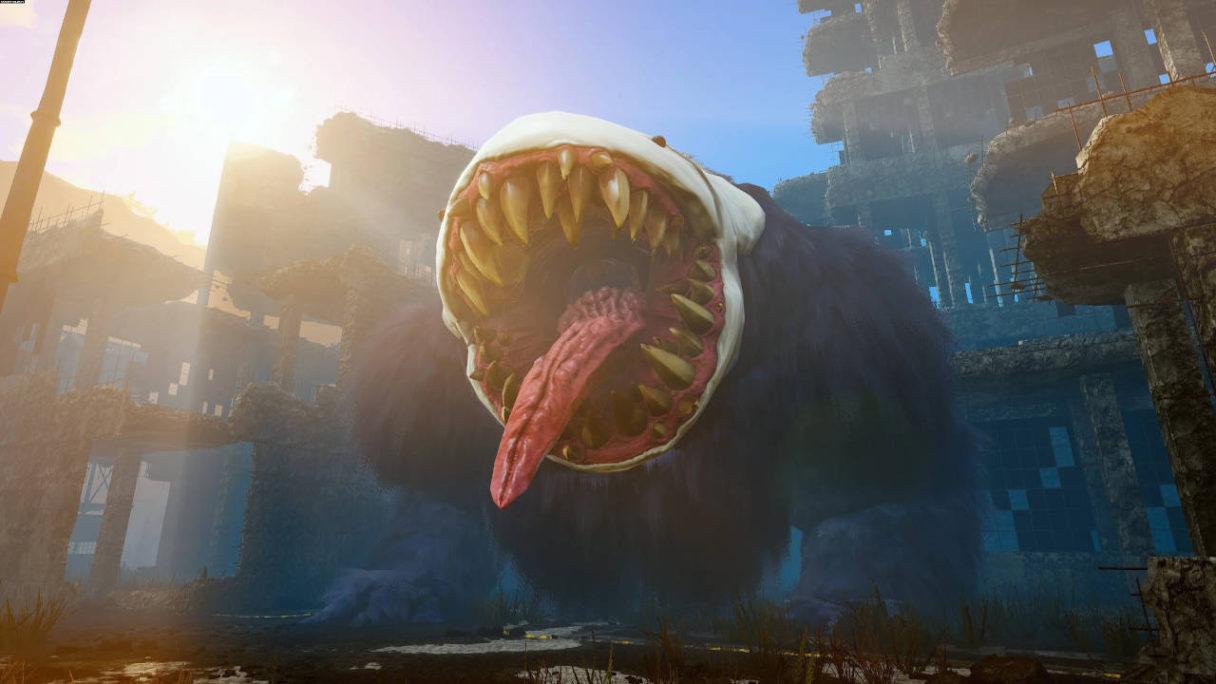 Biomutant potwór z gry z otwartą paszczą