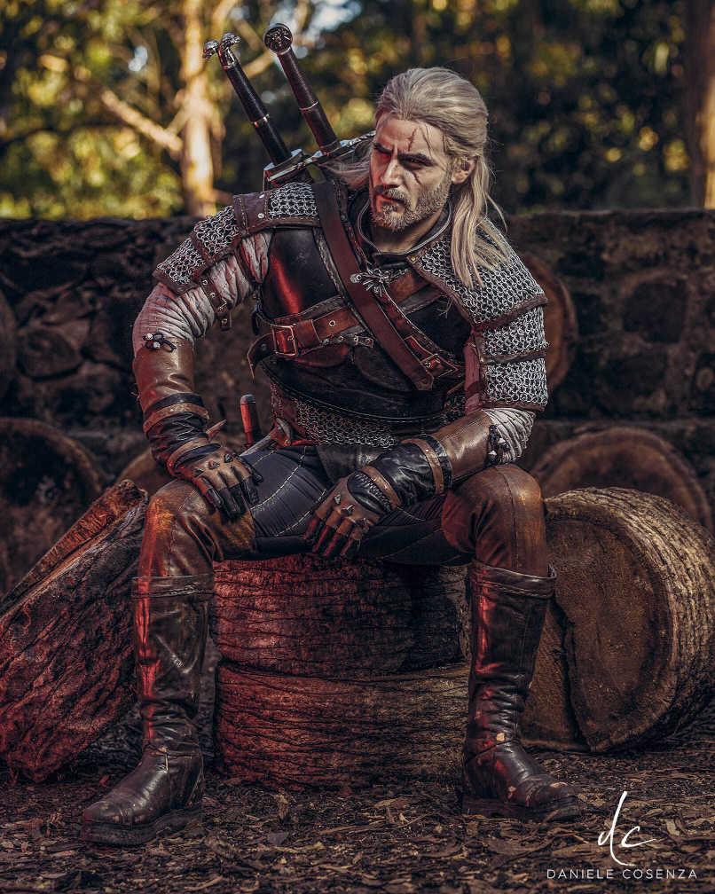 Cosplay z Wiedźmin - Geralt