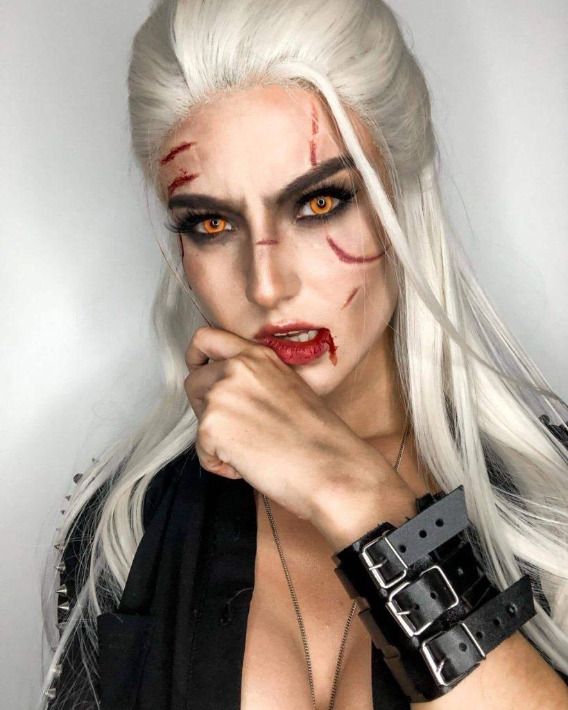 Cosplay z Wiedźmin - Geralt jako kobieta