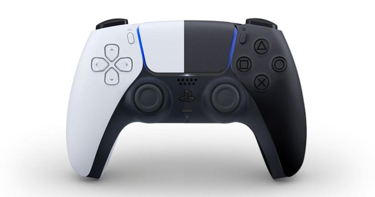 DualSense - biały i czarny kontroler