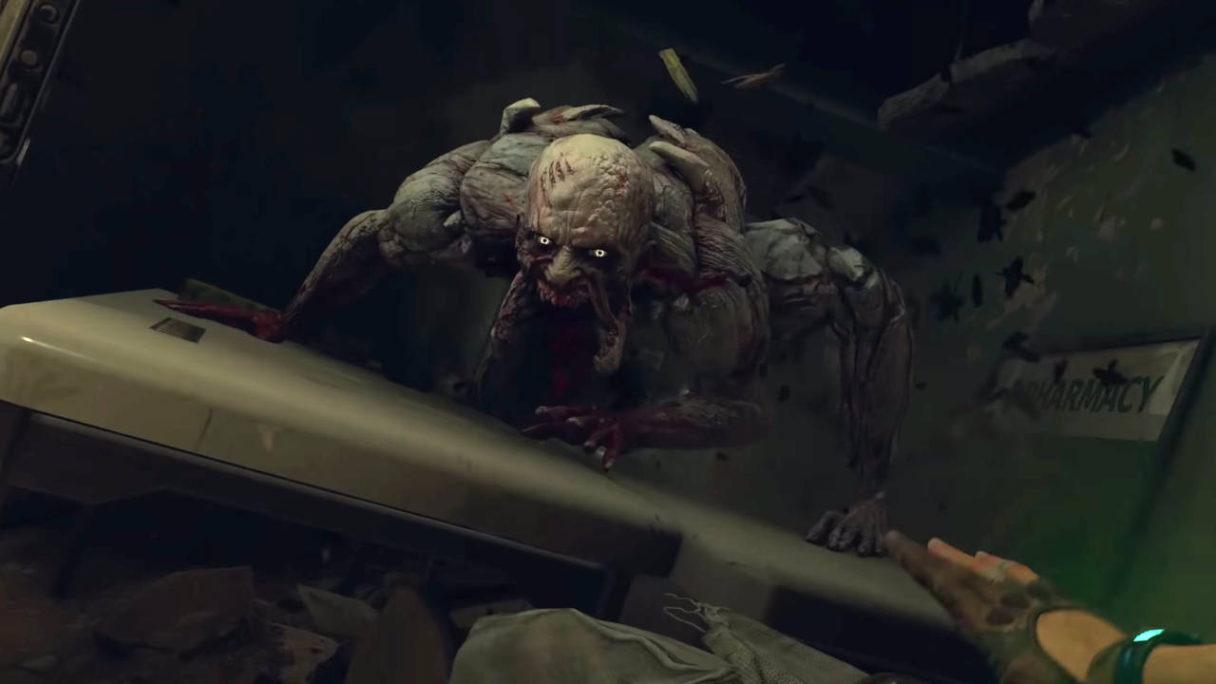 Dying Light 2 - odrażający mutant zombie na stole