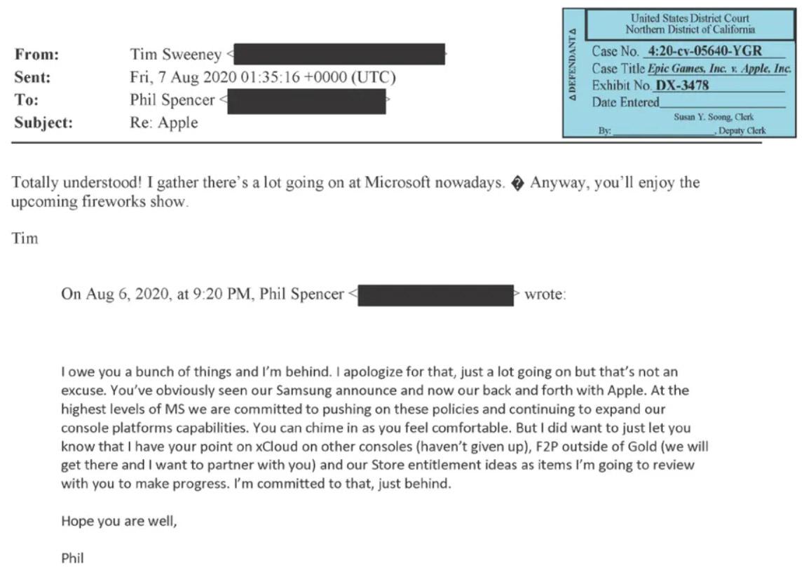 Xbox Game Pass i xCloud na innych konsolach - zrzut ekranu wiadomości e-mail