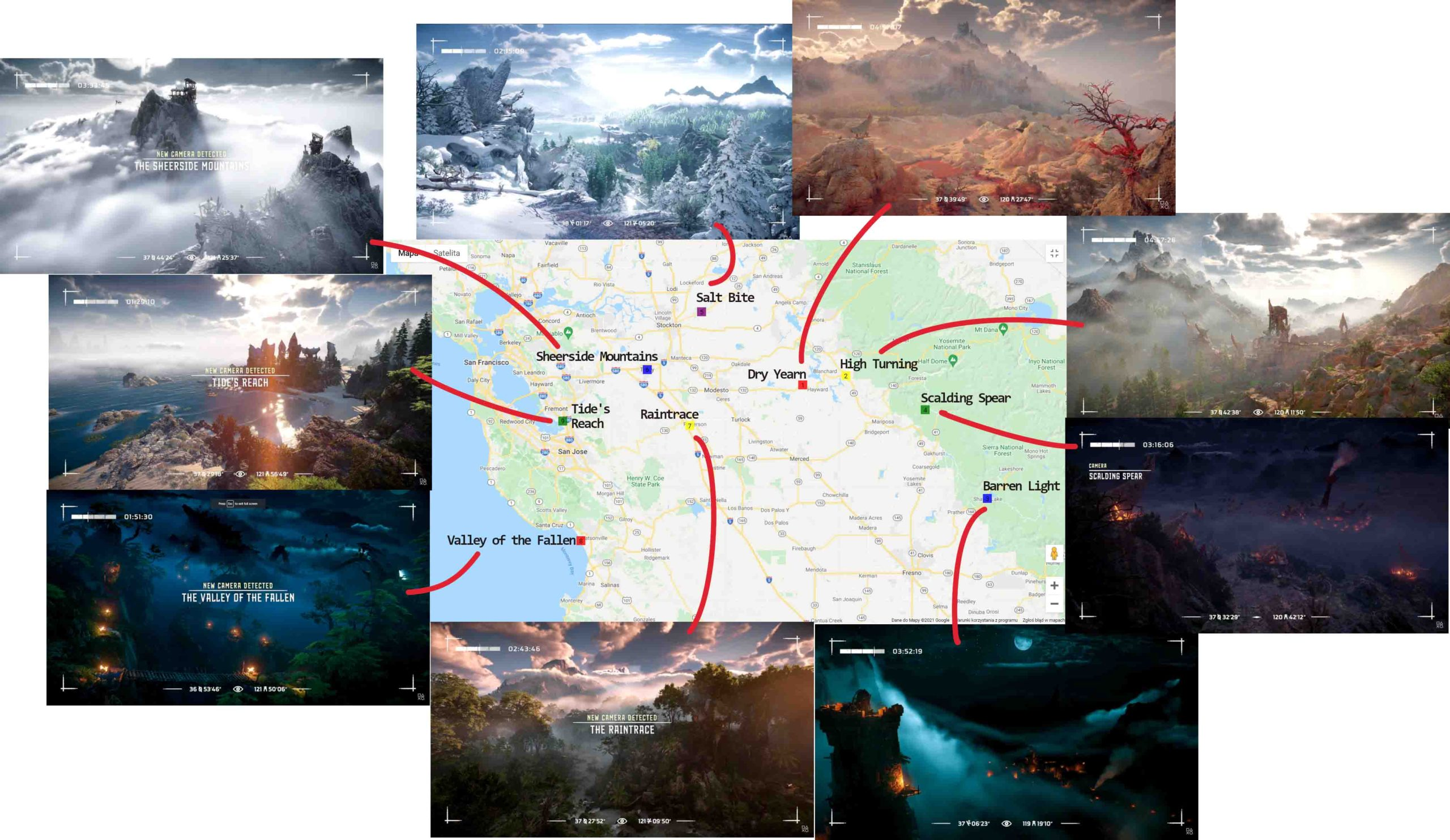 Horizon Forbidden West - analiza mapy i lokacji