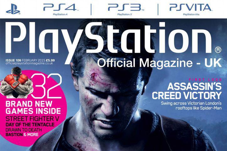 Official PlayStation Magazine okładka z 2015 roku