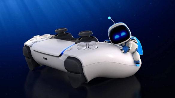 PlayStation - kontroler DualSense i Astro Bot