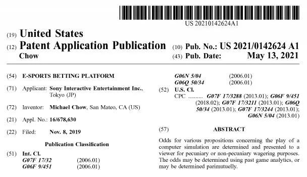 PlayStation - patent z obstawianiem