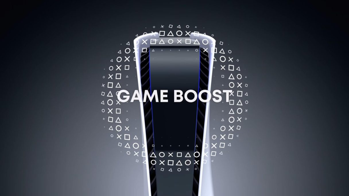 PS5 i napis Game Boost
