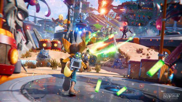 Ratchet & Clank: Rift Apart - zrzut ekranu ze strzelaniny