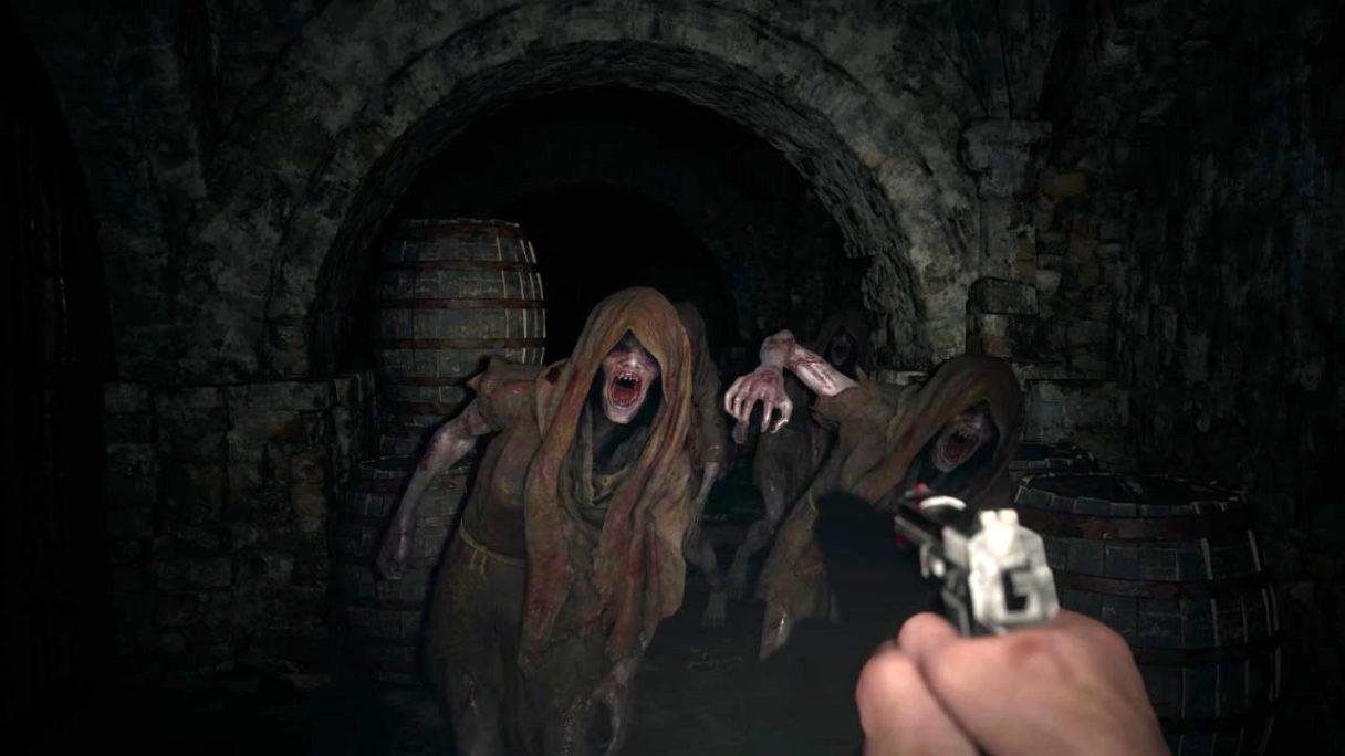 Resident Evil Village - strzelanie do potworów