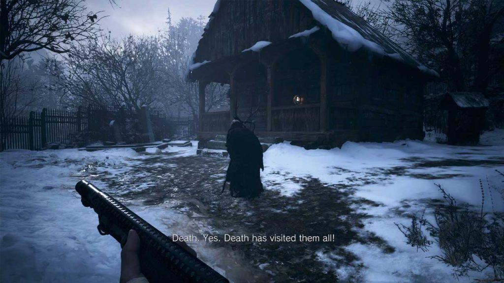 Resident Evil Village - zrzut ekranu z wiedźmą