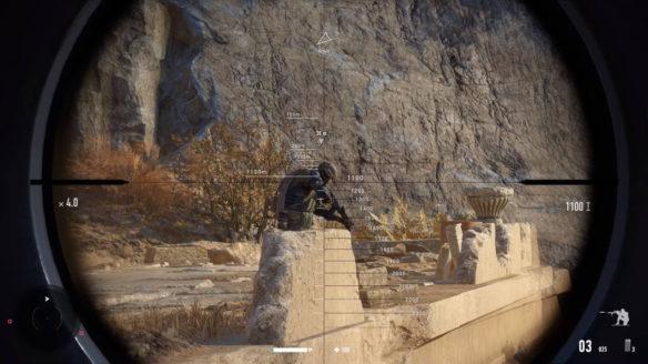 Sniper Ghost Warrior Contracts 2 celowanie przez lunetę karabinu snajperskiego