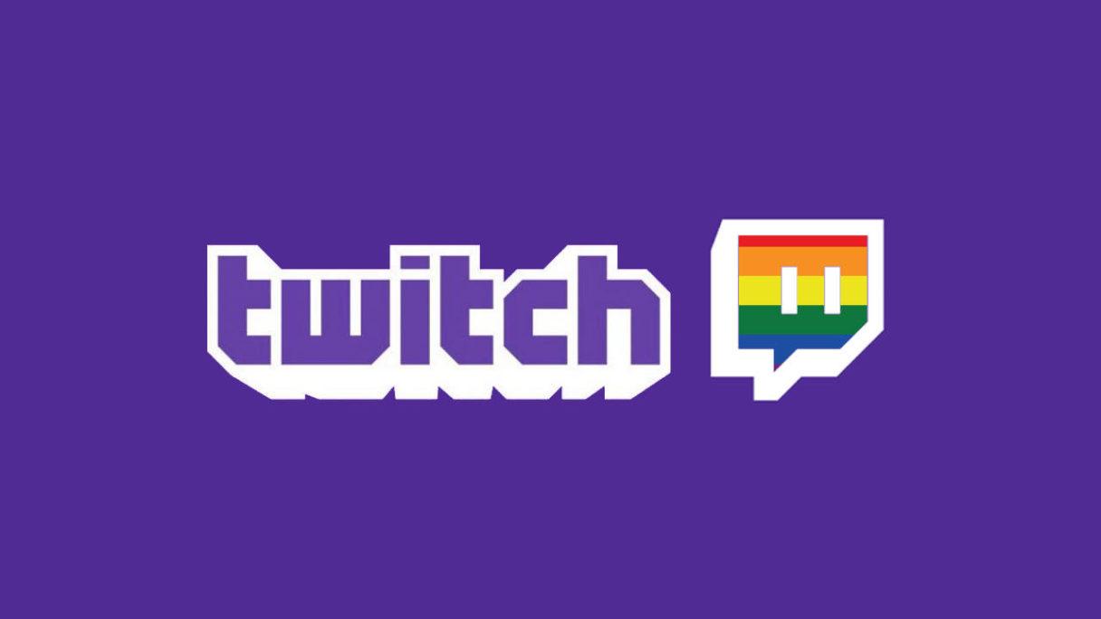 twitch logo z tęczowym akcentem