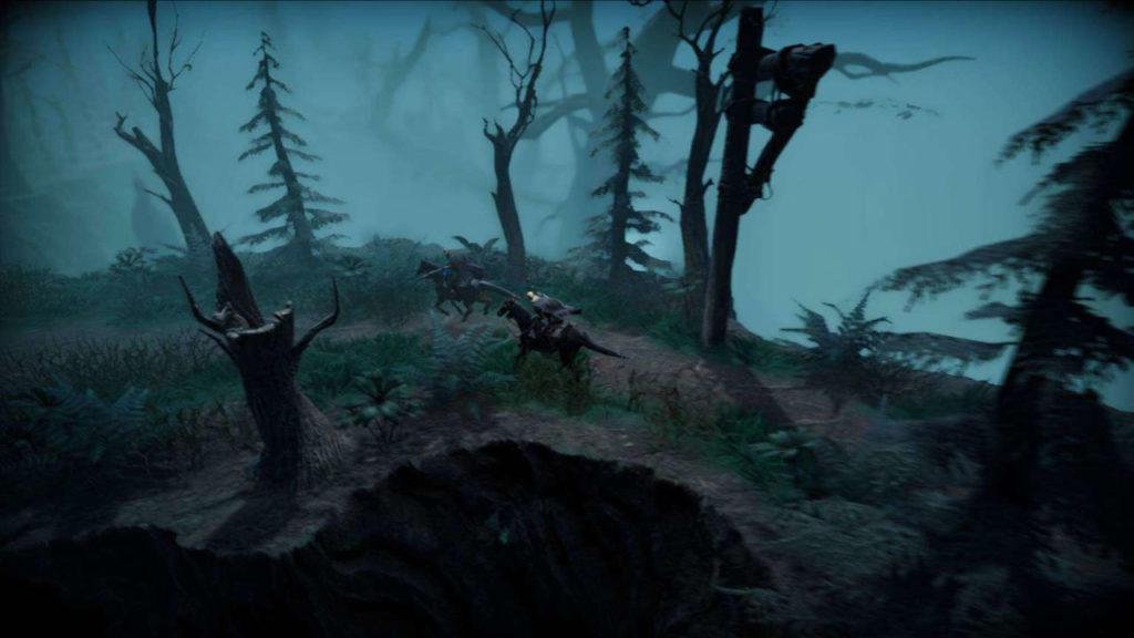 dwójka graczy na koniach w grze V Rising